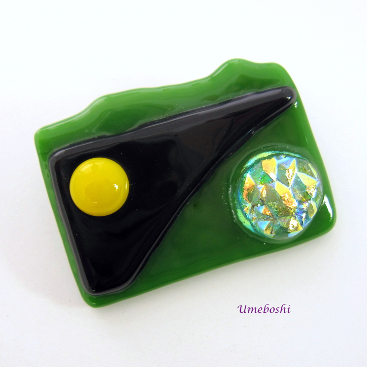 Original dichroic glass brooch jewelry