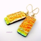 Dichroic Glass Handmade Dangle Earrings