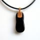 View showing the copper plated bail and back of pendant