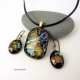 Dichroic Glass Jewelry Set by Umeboshi Jewelry Designs
