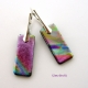 Dichroic Glass Earrings with Silver Lever Back Fittings