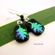 Oak Leaf Dangle Earrings on Black
