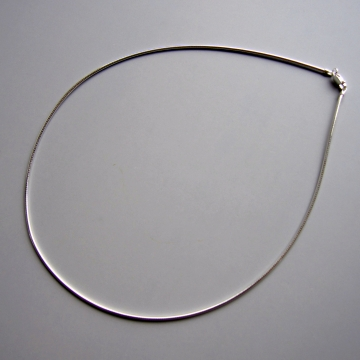 "Beautiful Italian 18"" Sterling Silver Omega Chain for Pendants"