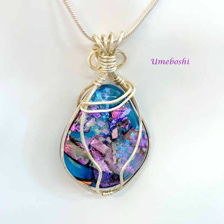 Statement Necklace Dichroic Glass