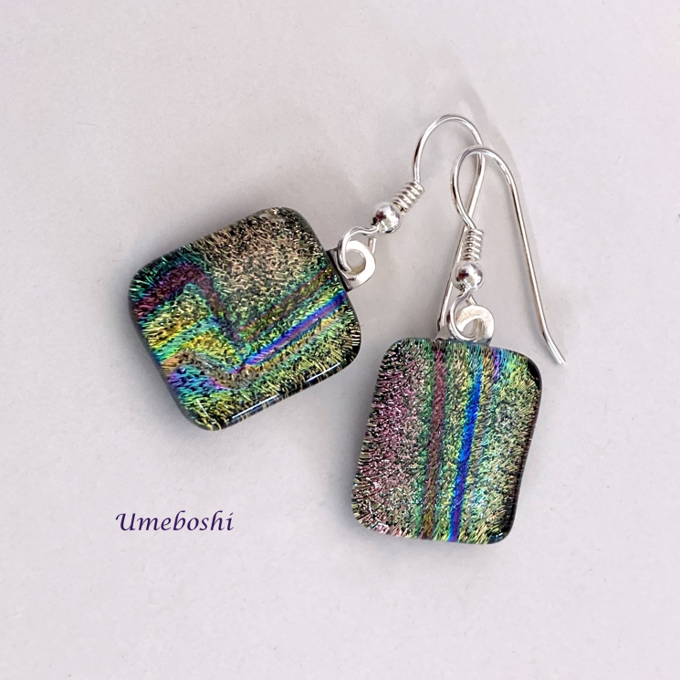 Unique Dichroic Glass Jewelry Earrings