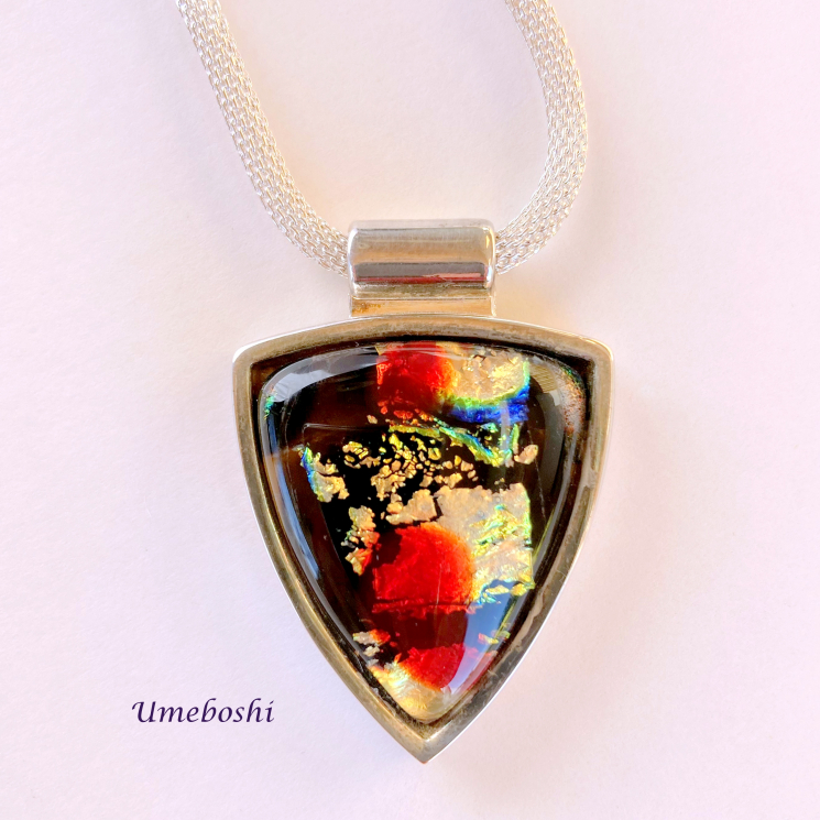 Colorful Dichroic Glass Statement Necklace