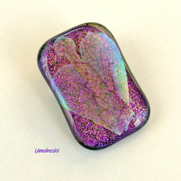 Fairy Flower Dichroic Glass Cabochon Brooch One-of-a-kind