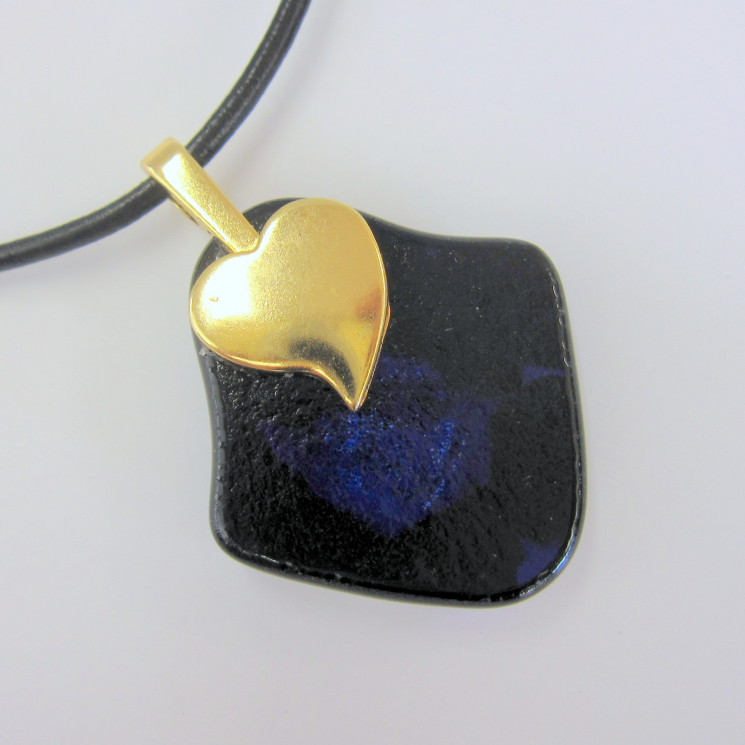 View of Pendant Back Showing Heart Bail