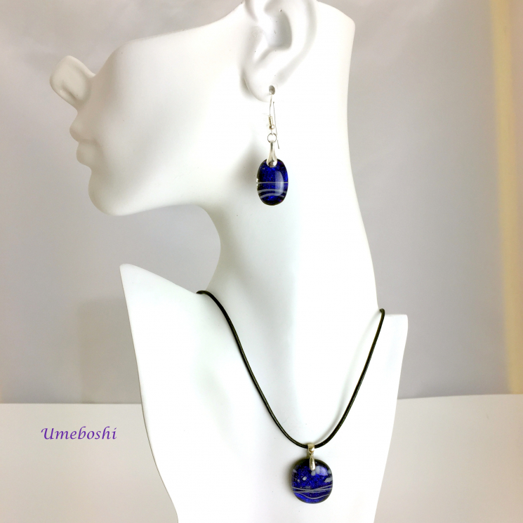 Berry colored dichroic glass jewelry