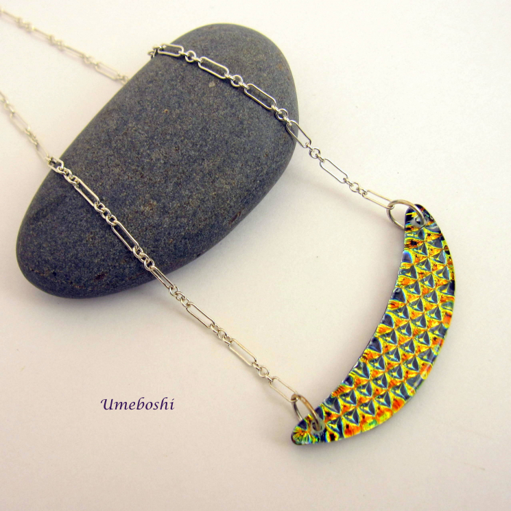 Umeboshi Jewelry Dichroic Necklace