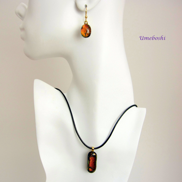 Dichroic glass jewelry set