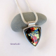 Beautiful one-of-a-kind Dichroic Glass Necklace