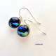 Handmade Dichroic Glass Dangle Earrings