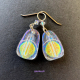 Iridescent Dichroic Glass Drop Earrings by Umeboshi Jewelry Designs