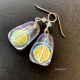 One-of-a-kind Dichroic Glass Iridescent Earrings