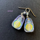 Icy Sunshine Unique Dichroic Glass Earrings