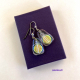 Iriidescent Dichroic Glass Drop Earrings