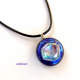 Dichroic glass Pendant necklace by Umeboshi
