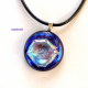 Handmade dichroic fused glass pendant