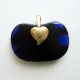 Back of pendant showing gold plated heart bail