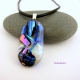 Shining Fusion Handmade Dichroic Fused Glass Cabochon Jewelry Pendant