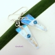 Stunning Crystaline Dichroic Fused Glass Earrings - Handmade