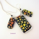 Dichroic hearts jewelry set