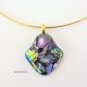 Handmade Dichroic Fused Glass Pendant by Umeboshi Jewelry Designs