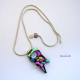 One-of-a-kind Dichroic Glass Pendant