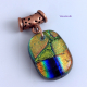 Handmade dichroic glass colorful pendant