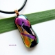 One-of-a-kind handmade dichroic glass pendant by Umeboshi