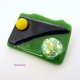 Sun and Moon Handcrafted Dichroic Fused Glass Brooch Pin