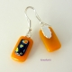 Little HeartsHandmade Fused Glass Dangling Earrings - Sterling Silver Ear