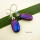 Color Shifting Dichroic Glass Earrings