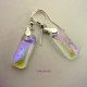 Iridescent Dichroic Earrings