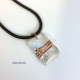 Umeboshi Jewelry Designs dichroic glass necklace