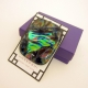 A Winters Jewel Large Heavy Coat Pin Brooch Dichroic Fused Glass Statement Jewel