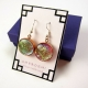 Dichroic glass statement earrings