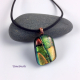 Dichroic glass necklace by Umeboshi Jewelry Designs