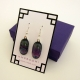 Package view of dichroic glass earrings