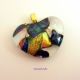 Dichroic Fused Glass Heart Pendant by Umeboshi Jewelry Designs