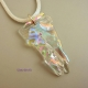 Crystal Rainbows Handmade Clear Dichroic Glass Free-form Jewelry Pendant