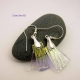 Delicate Dichroic Glass Earrings
