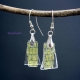 Golden Mysteries Handmade Dichroic Glass Layered Earrings Iridescent Sparkling G