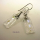 Dichroic glass earrings with sterling pinch bails