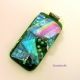 Shades of Spring Handmade Fused Dichroic Glass Jewelry Pendant - Green and Rainb