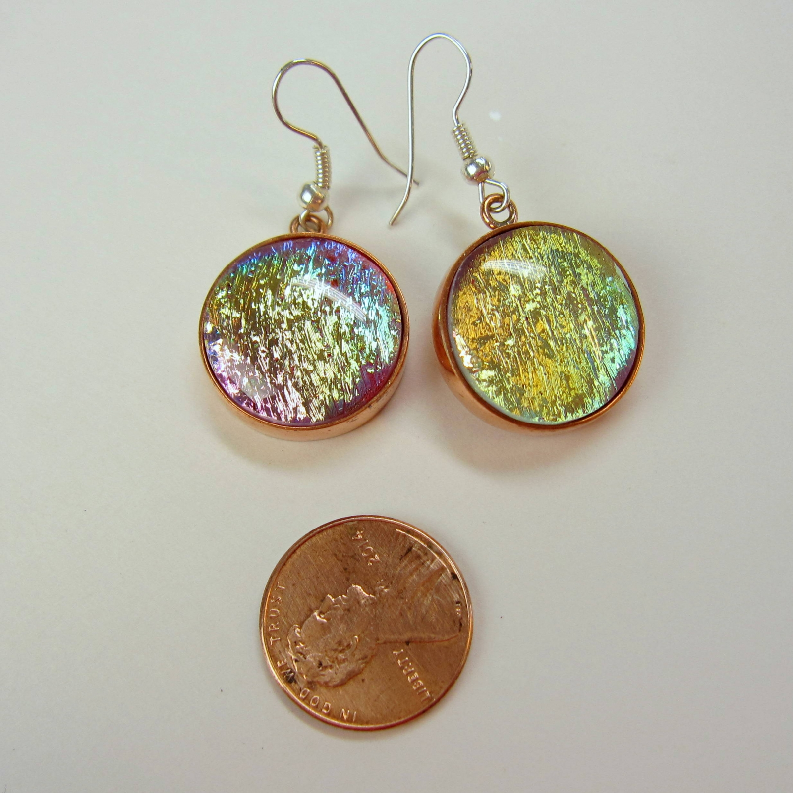 Shimmering Color Shifting Pastel Rainbow Dichroic Glass