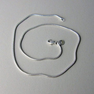 1.2mm 18 Inch Sterling Silver Snake Chain with Lobster Clasp